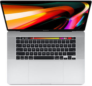 "MacBook Pro 16""  Eight-core 2.3 GHz, Boost a 4.8GHz"